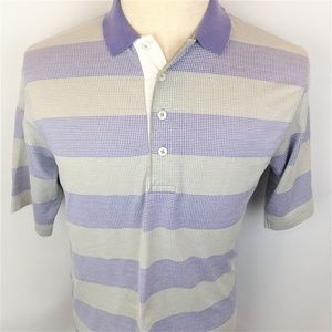 Ping Mens Striped Short Sleeve Cotton Golf Polo M